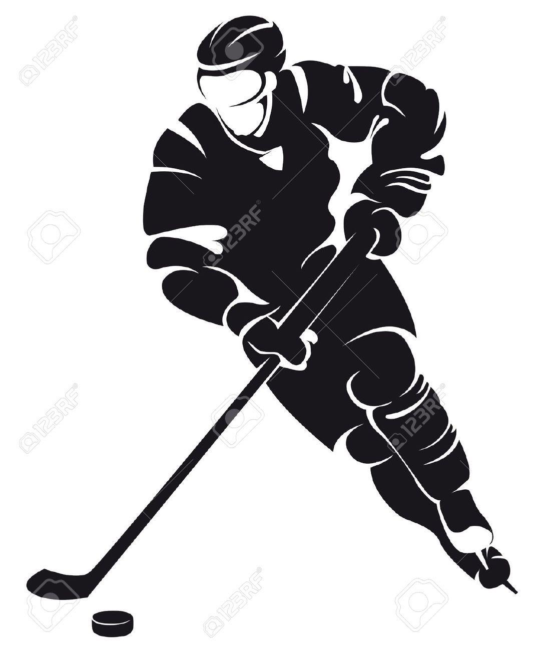 Hockey clipart vector free.