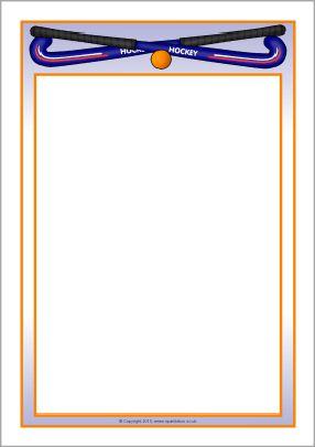 Hockey A4 page borders (SB10059).