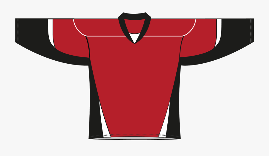Red Black White Hockey Jersey , Free Transparent Clipart.