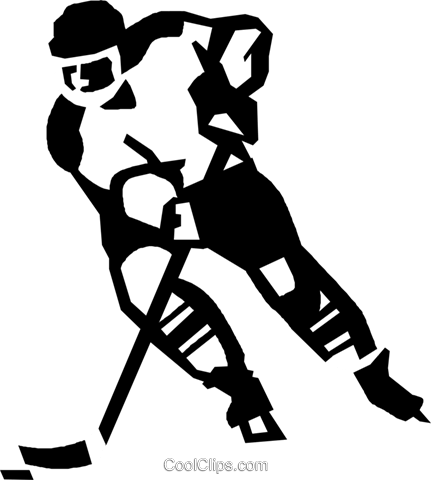 Hockey Player Royalty Free Vector Clip Art Illustration.