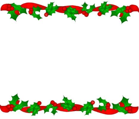 Free Holiday Border Clip Art.