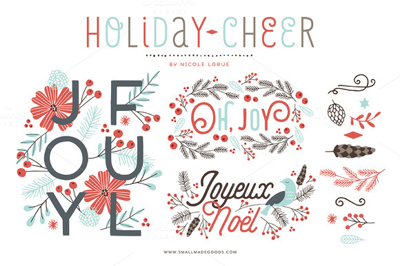 Free Holiday Cheer Clipart.
