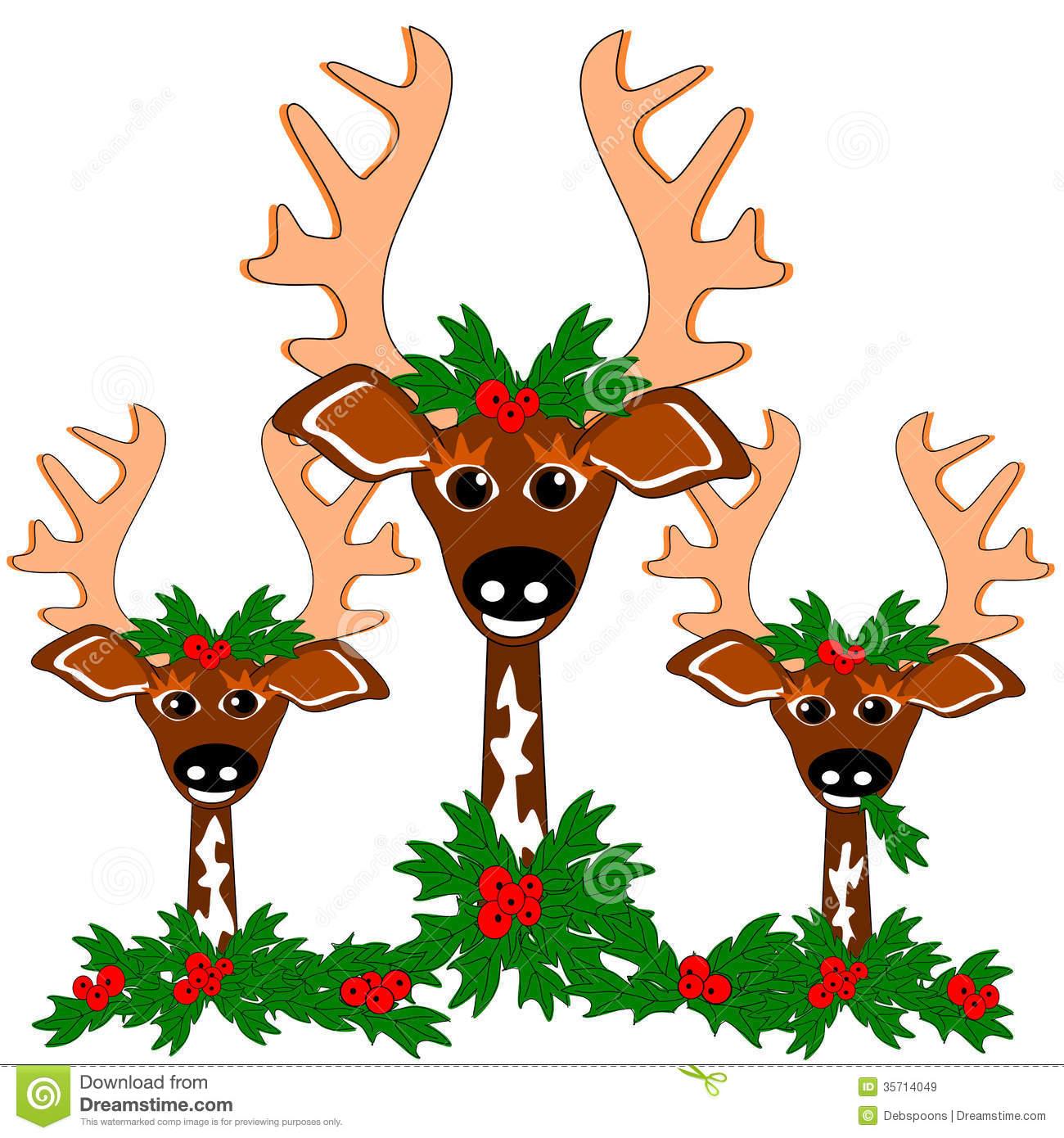 Reindeer Cheer Royalty Free Stock Images.