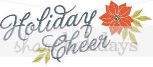 Holiday Cheer Word Art.