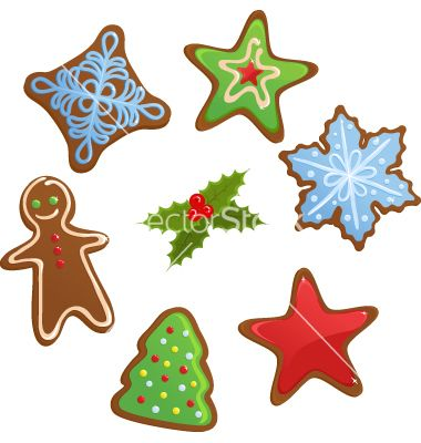 Image result for vector holiday cookies.