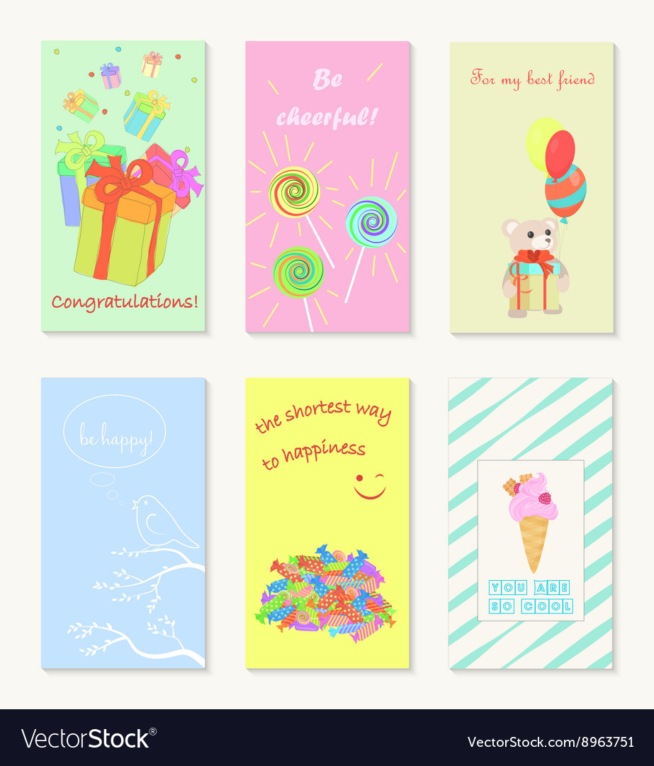 Birthday and holiday invitation greeting cards.