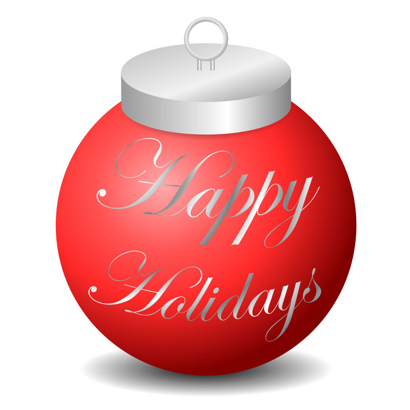 Free Clipart: Happy Holidays Ornament.