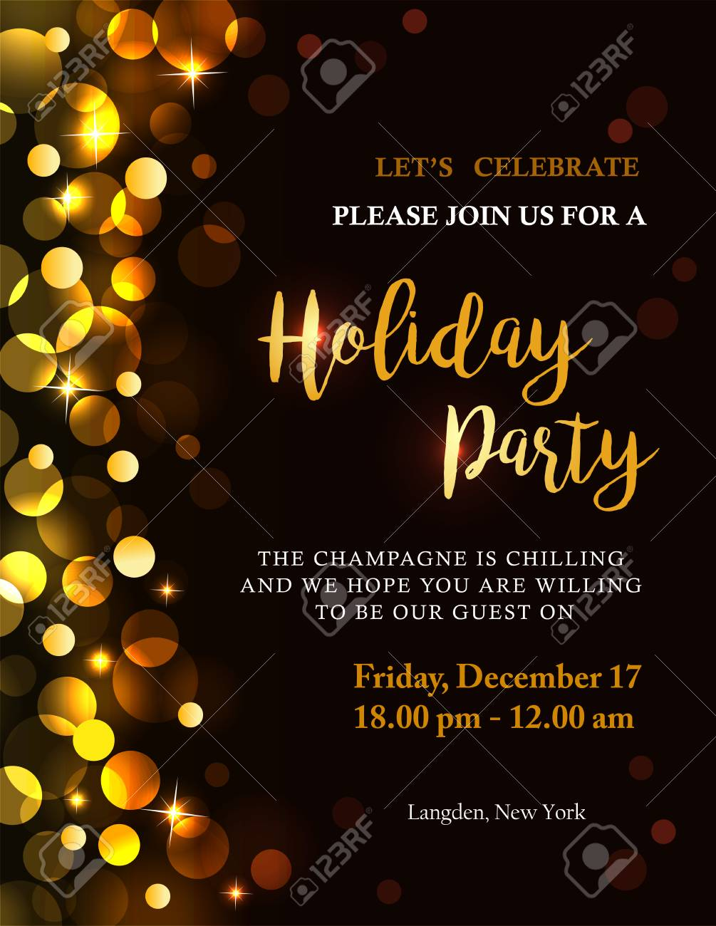 free holiday party invitation clipart #5