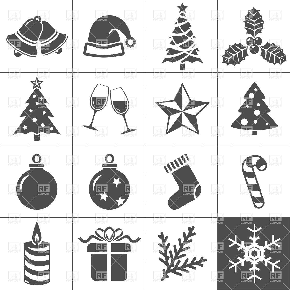 Christmas Icons Stock Vector Image.