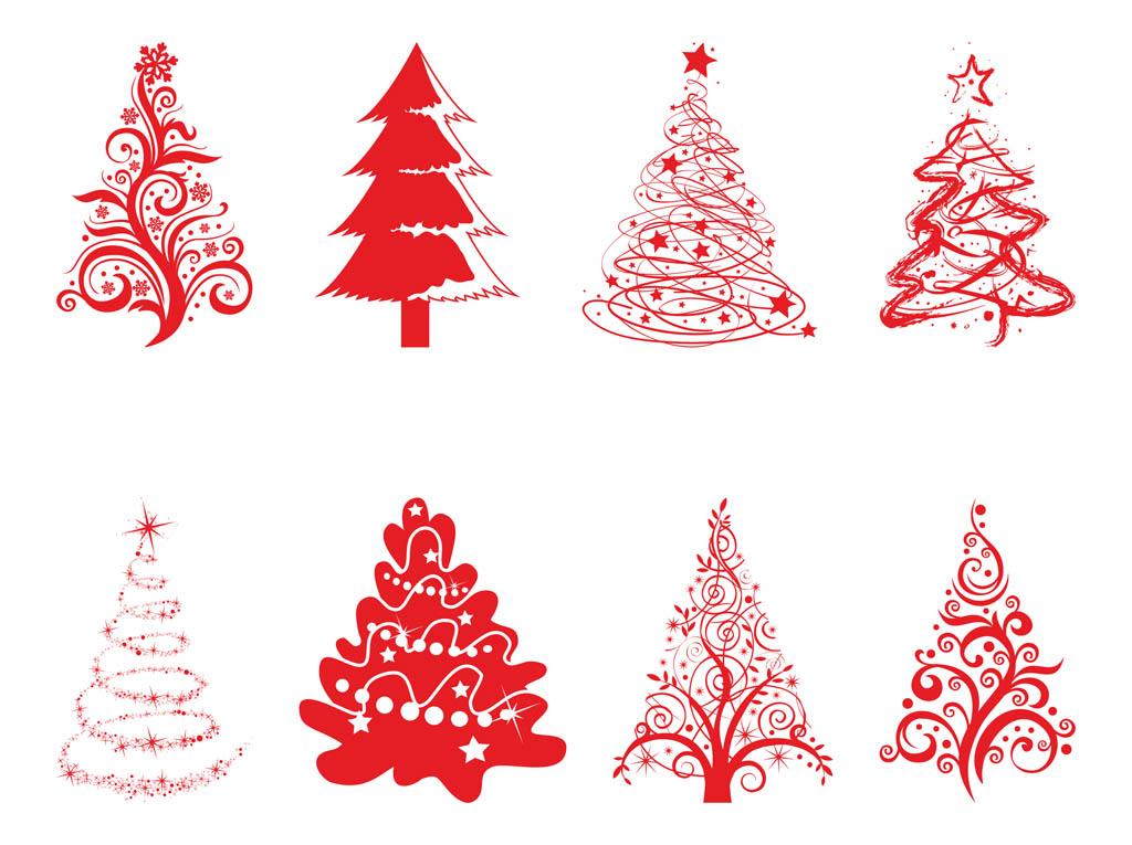 Holiday Trees Set Vector Art & Graphics.