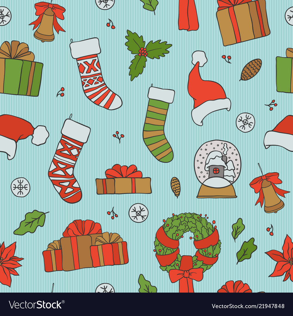 Christmas seamless patterns holiday.