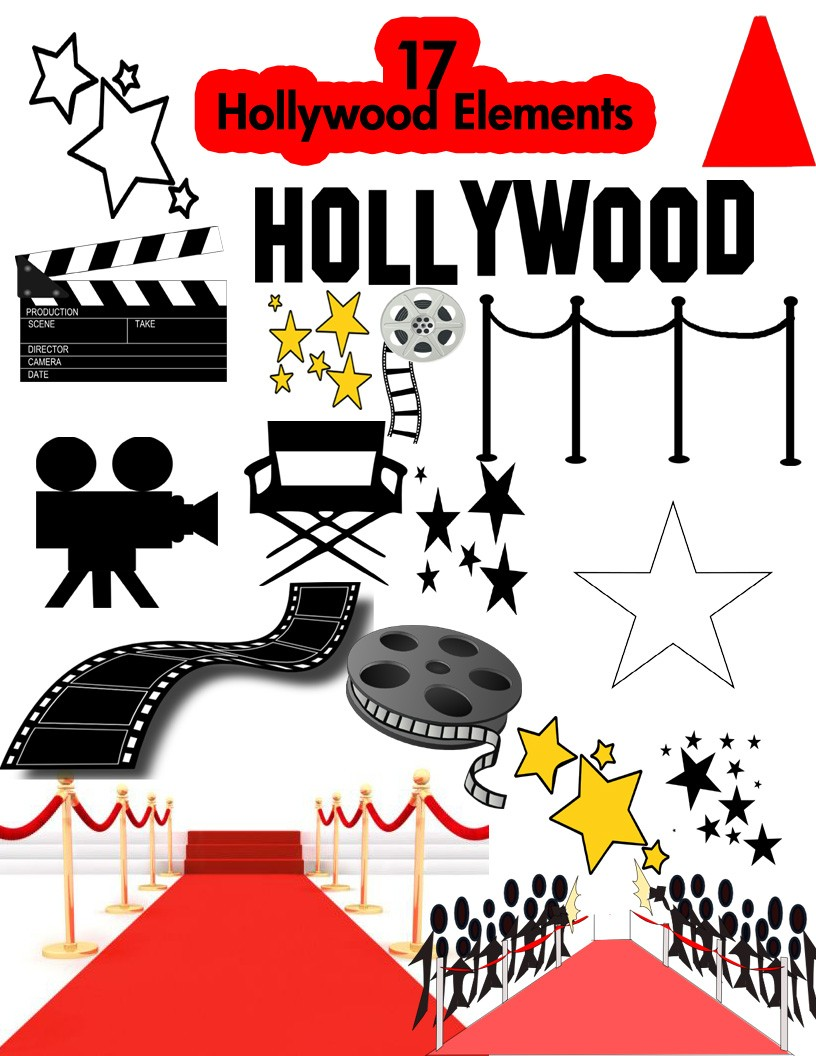Hollywood Cliparts, Hollywood Free Clipart.