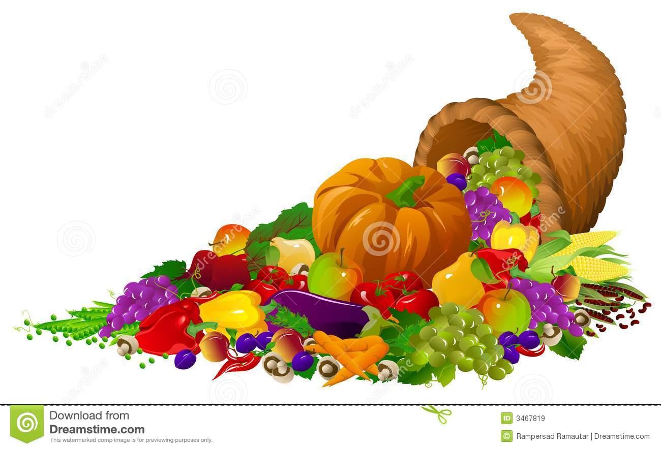 Thanksgiving Horn Of Plenty Clipart.