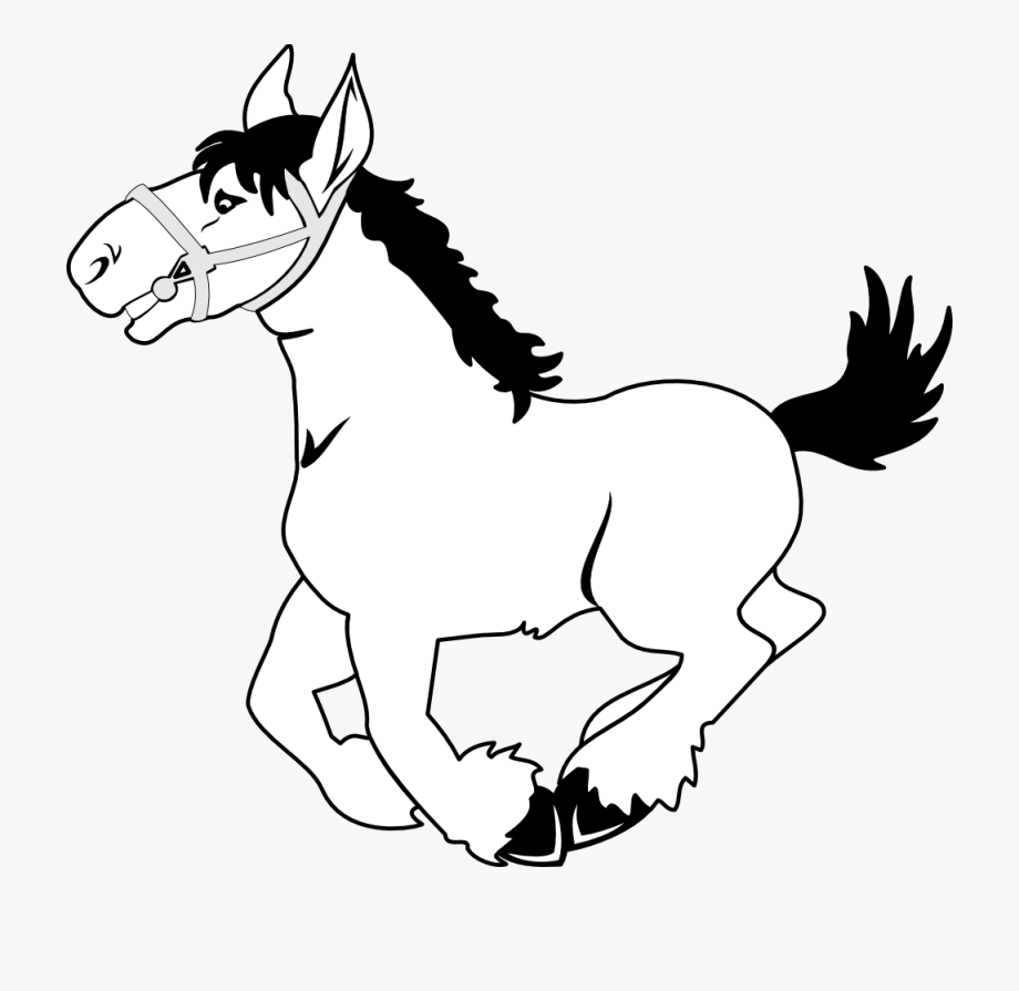 Horse Clip Art Black And White Clipart.