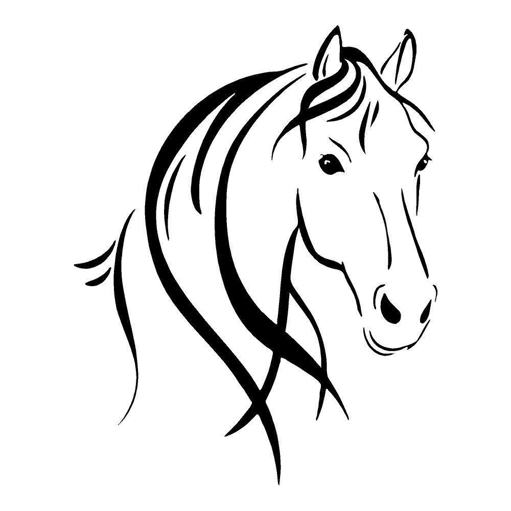 1434 Horse Head free clipart.
