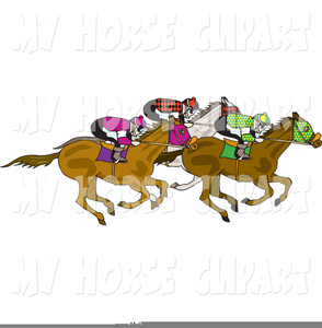 Horse Racing Track Clipart.