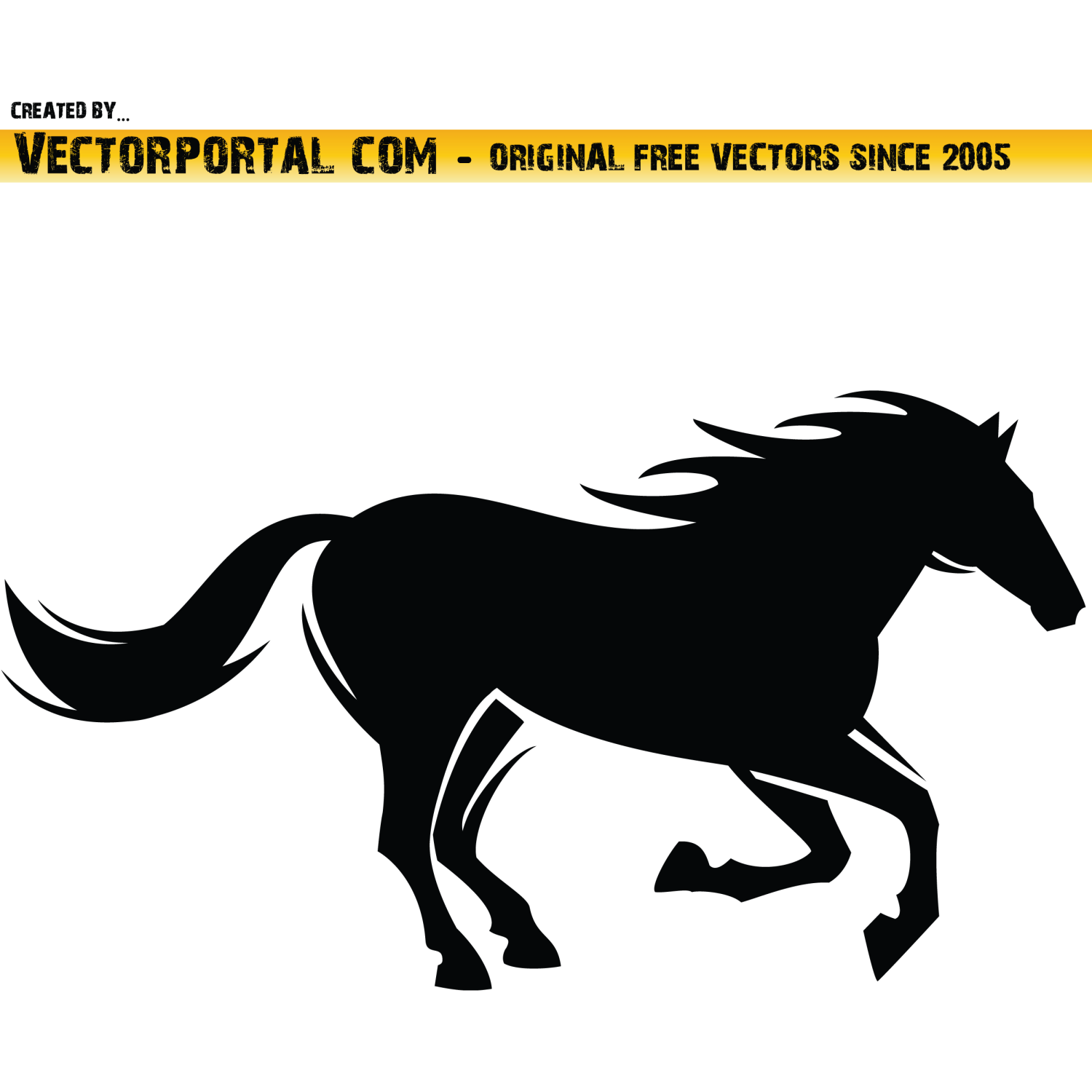 Vector for free use: Horse Vector Clip Art.