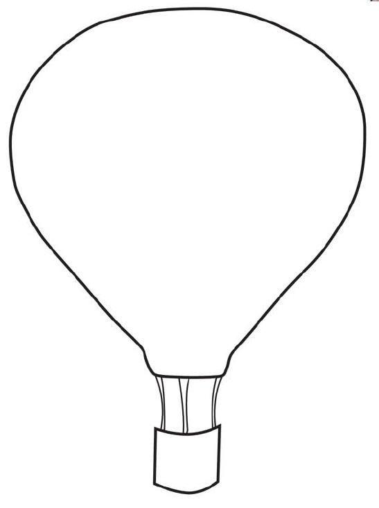 FREE Printable Hot Air Balloon Template.