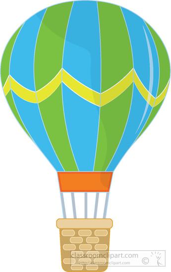 1760 Hot Air Balloon free clipart.