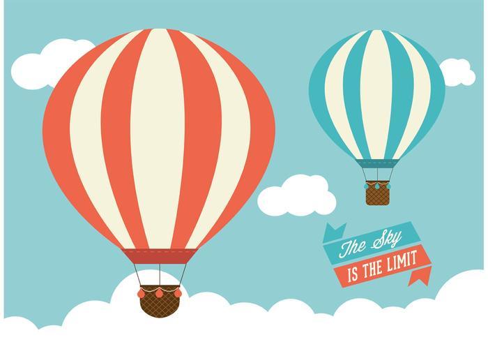 Hot Air Balloons Vector Graphic.