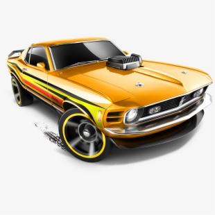 Mattel, Hot Wheels Diecast Car, '70 Ford Mustang Mach.