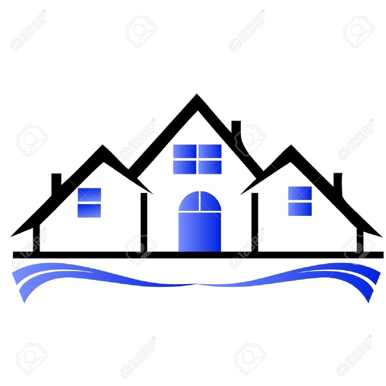 Houses real estate logo.