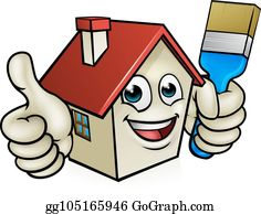 House Painting Clip Art.