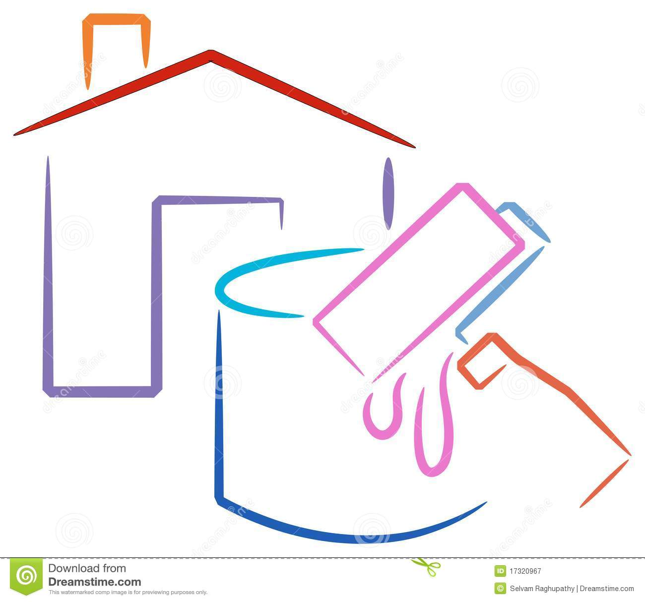 House painting logo stock vector. Illustration of decorating.