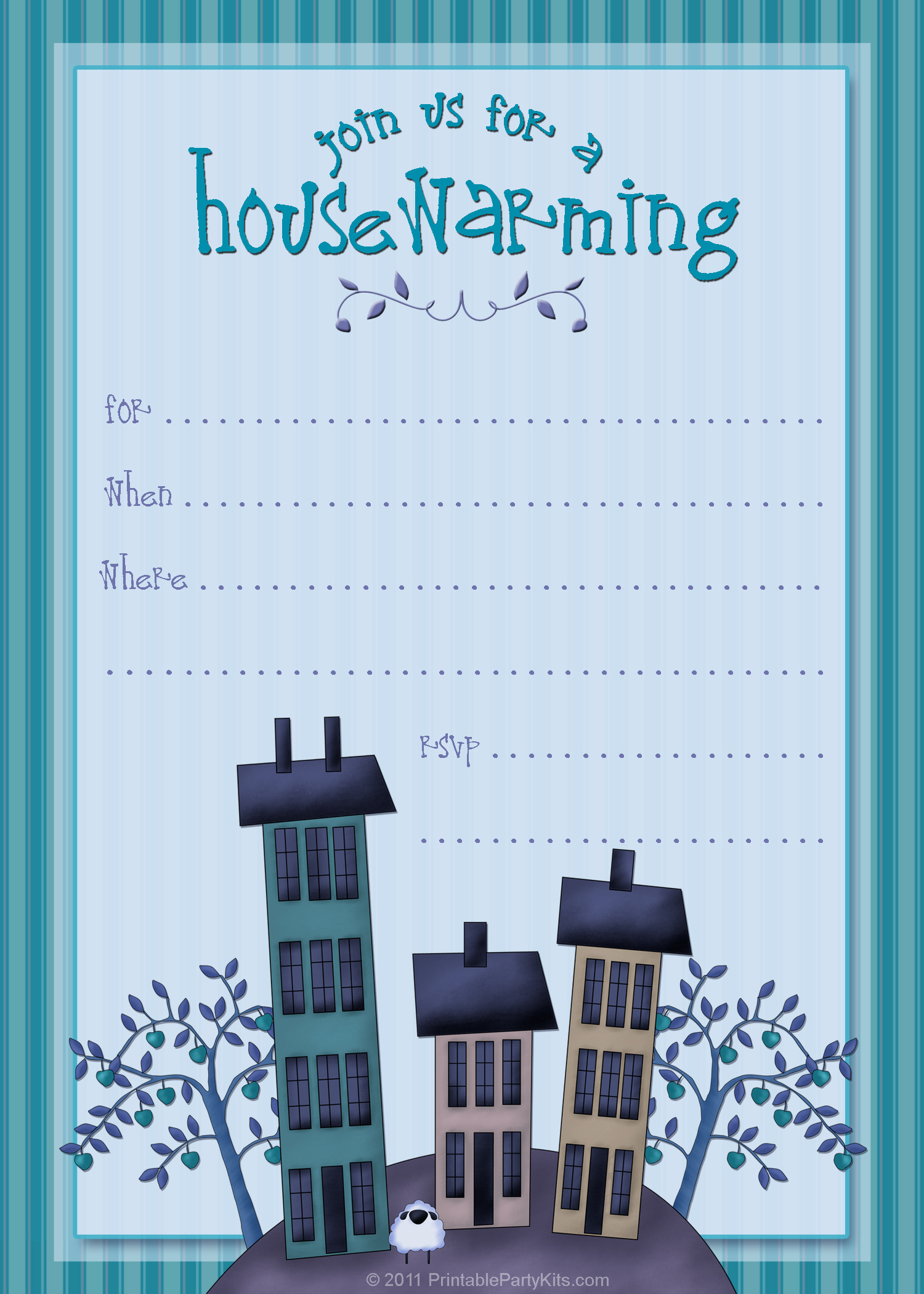 Free Housewarming Party Invitation Templates.