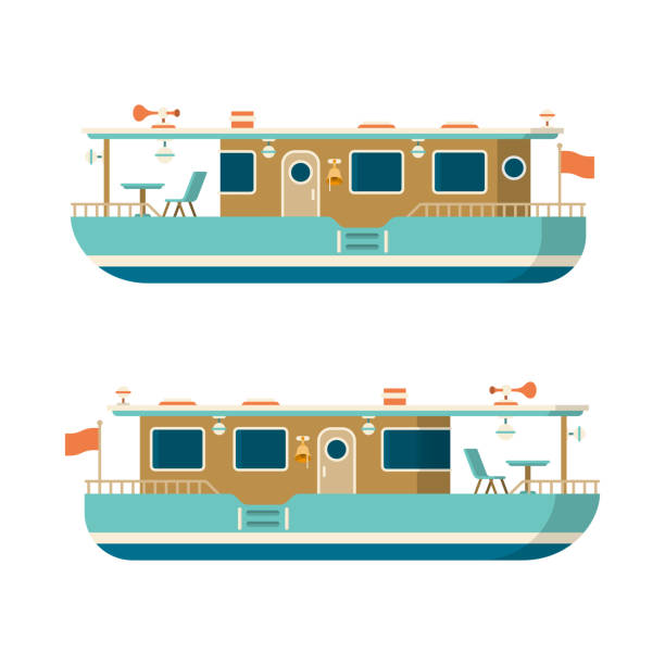 Best Houseboat Illustrations, Royalty.