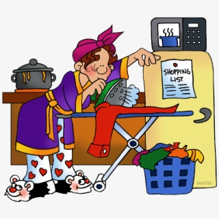 Free Occupations Clip Art By Phillip Martin, Housewife.