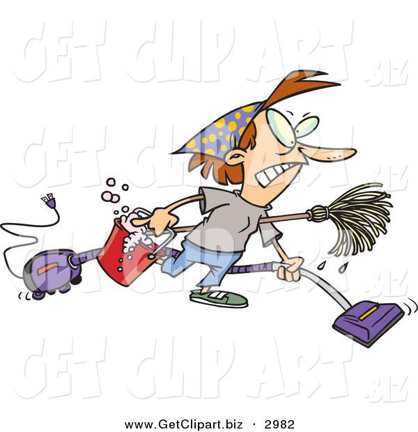 Free Clip Art Cleaning Woman.