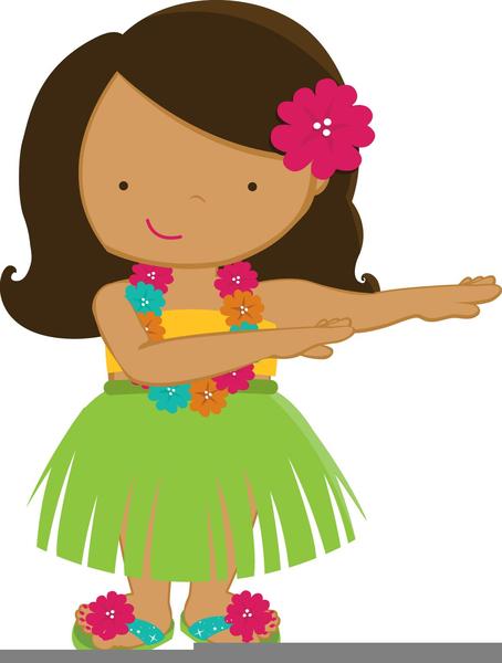 Free Clipart Hula Girl.