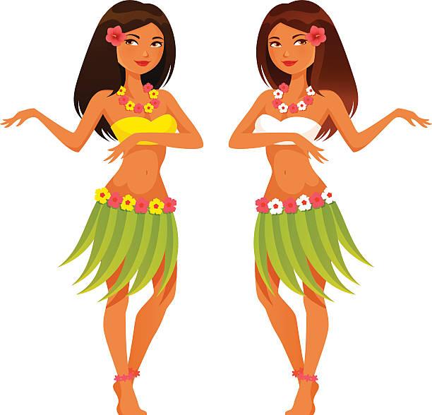 Best Hula Girl Illustrations, Royalty.