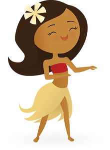 Animated Hula Girl Clipart.