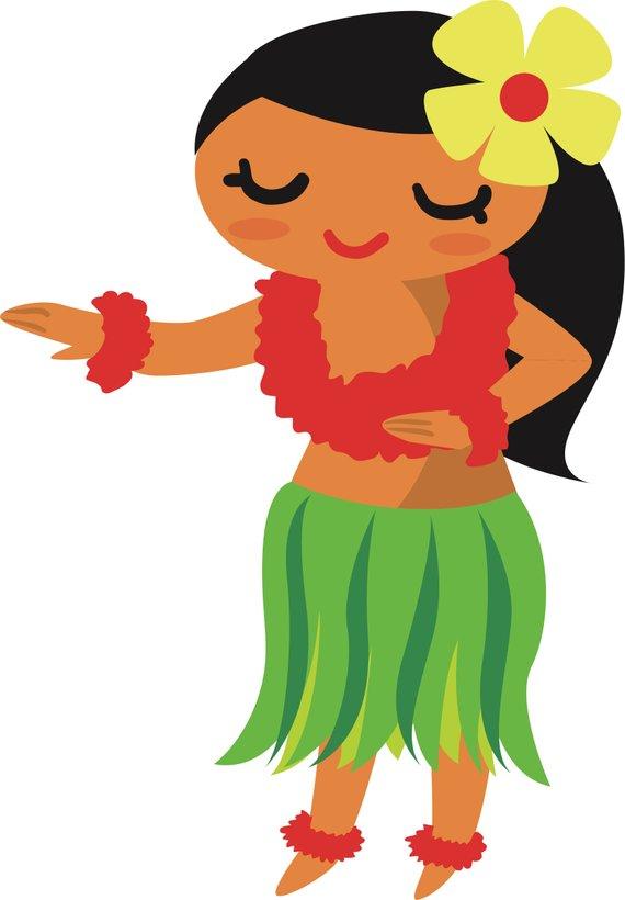 Hula Girl SVG cut file.