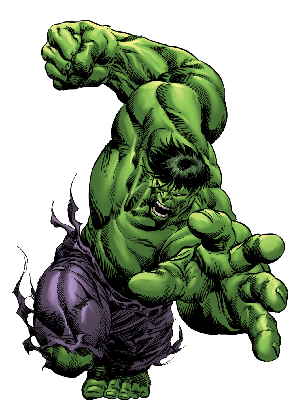 Hulk Attack transparent PNG.