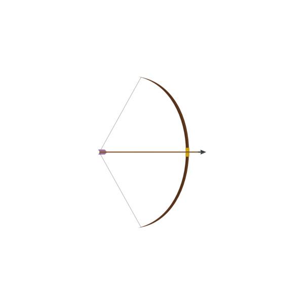Bow And Arrow clip art.