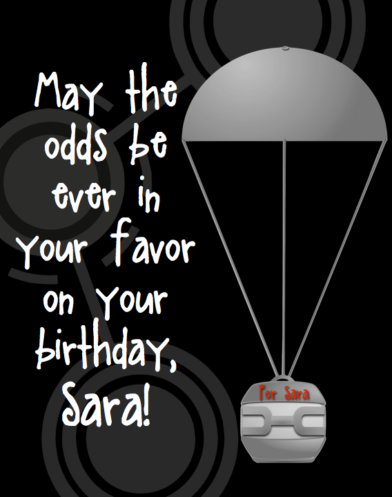 Hunger Games Birthday Card using Hunger Games Clip Art.