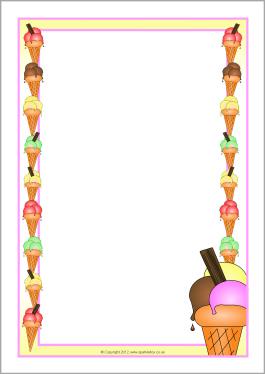 Ice cream border clipart 1 » Clipart Station.