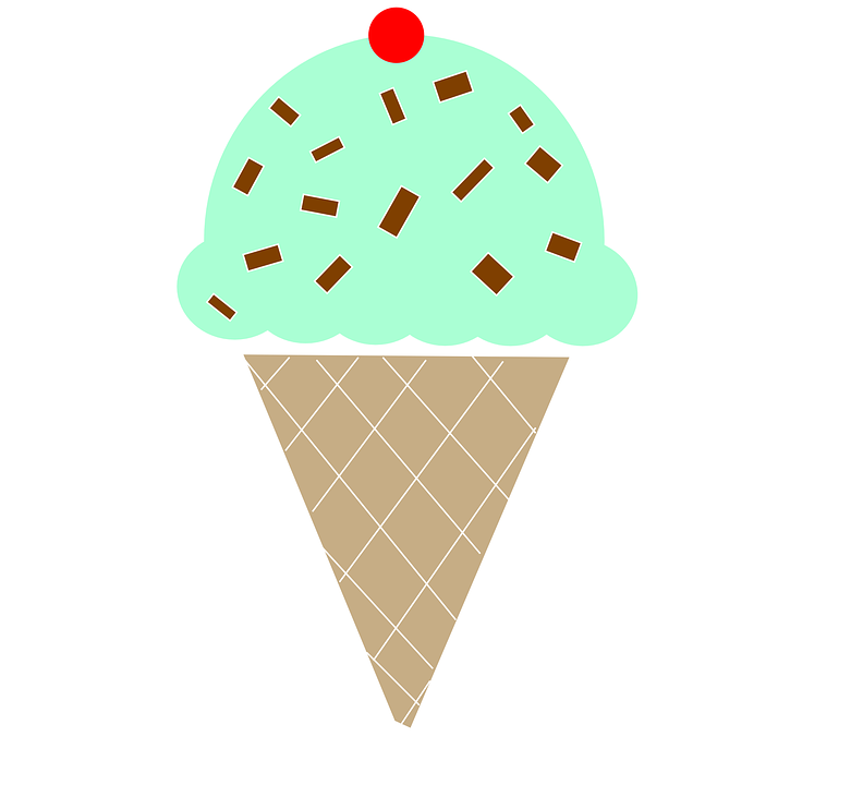 Ice Cream Cone Mint Chocolate.