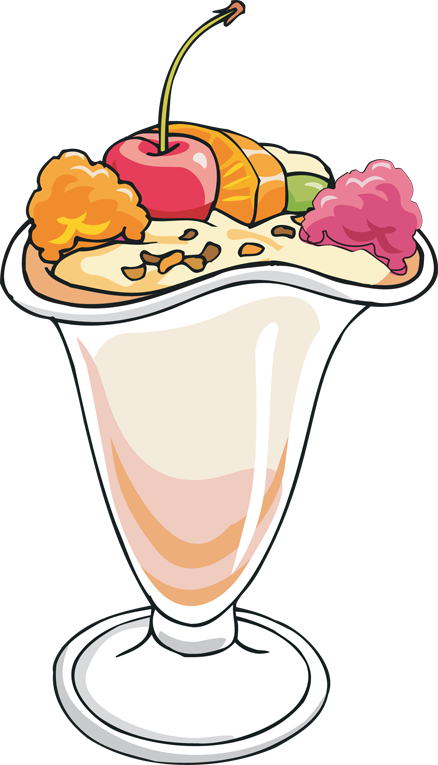 Ice Cream Sundae Clip Art.
