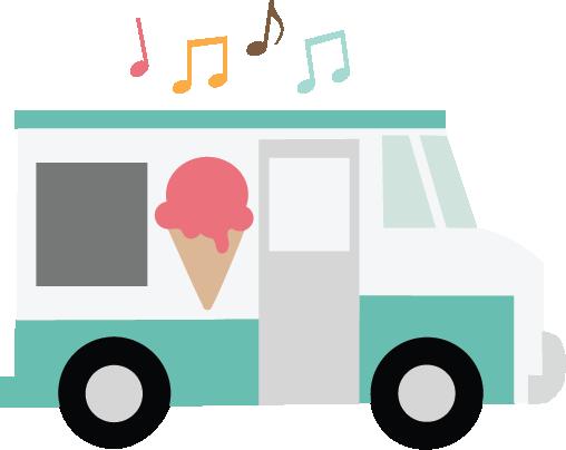 Ice Cream Truck SVG file for scrapbooking cardmaking cute svg cuts.