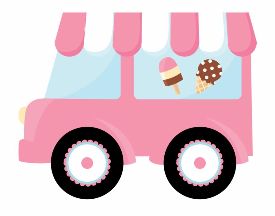 Clipart Car Watercolor Ice Cream Truck Clipart Eps.