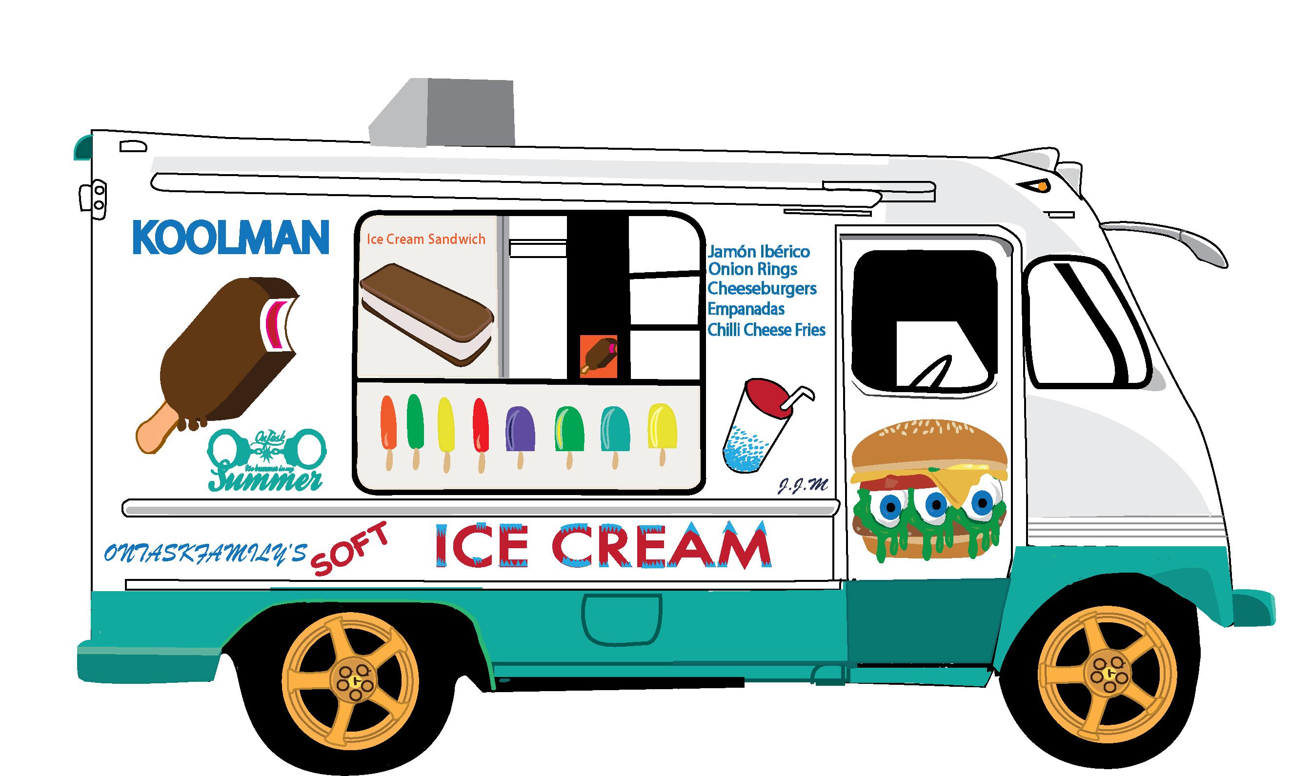 245 Ice Cream Truck free clipart.