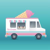 Ice Cream Truck Free Vector Art.