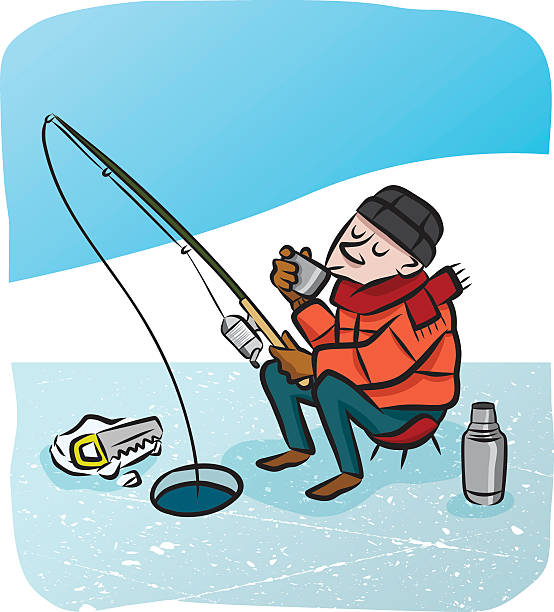 Best Ice Fishing Illustrations, Royalty.