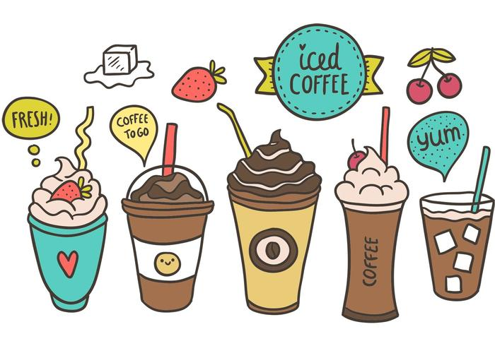 Free Iced Coffee Vector.