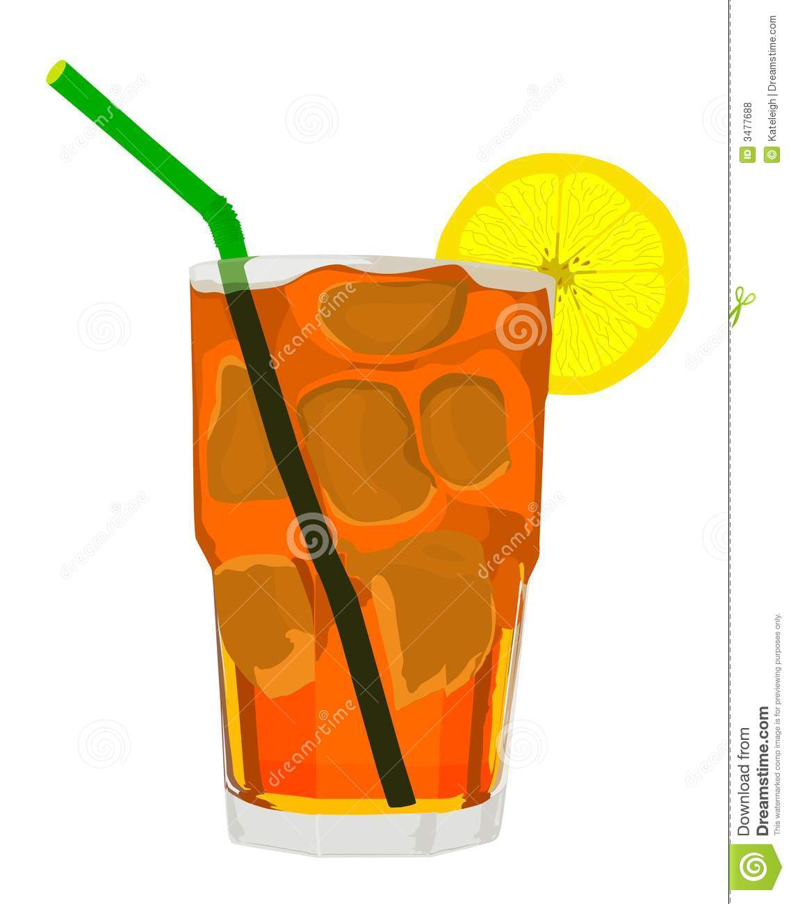 Iced Tea Vector.