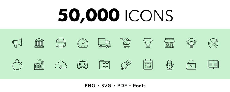 Top 50 Free Icon Sets for Web Designers for 2019.